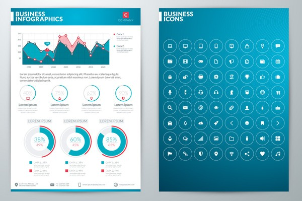 Several charts, graphics, and icons are included.