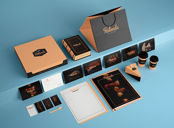 sofia weinstein was commissioned by studio raduga7 to create the brand identity concept for restaurant rotonda