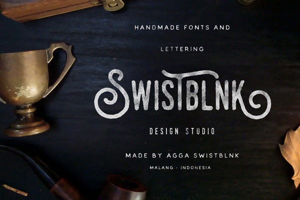 The Malang, Indonesia based Swistblnk Design Studio by Agga Swistblnk specializes in handmade fonts and lettering.