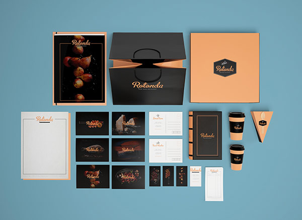 Sofia Weinstein developed a design concept including the logotype, menu, packing, and selected interior references.