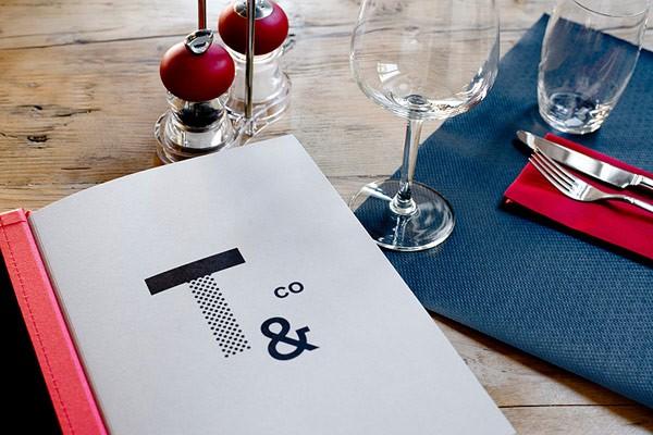 The restaurant menu.
