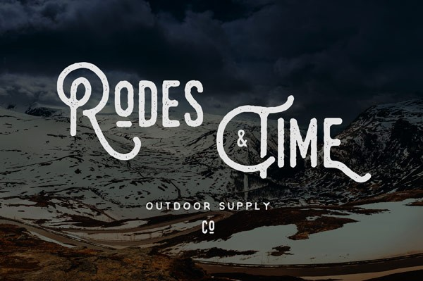 You can use this hand drawn typeface for titles and logos.