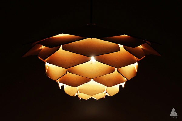 Fire of Dragon lamp design by Ronny Buarøy, a Bergen, Norway based industrial and furniture designer.