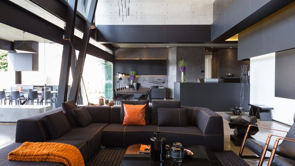 Modern and extravagant interio design.