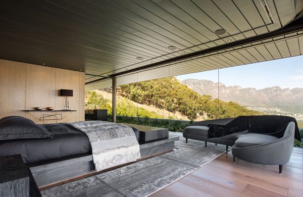 Also the spacious master bedroom provides amazing views of the breathtaking landscape.