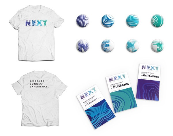 Some promotional items such as buttons and t-shirts.