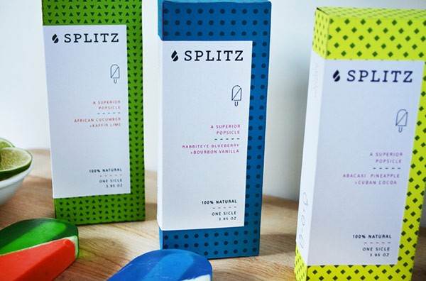 The packaging concept uses different colors along with clean typography and simple icons.