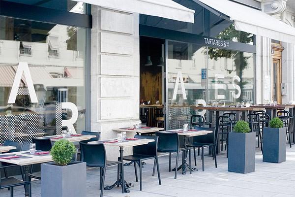 A bar and restaurant in Geneva, Switzerland.