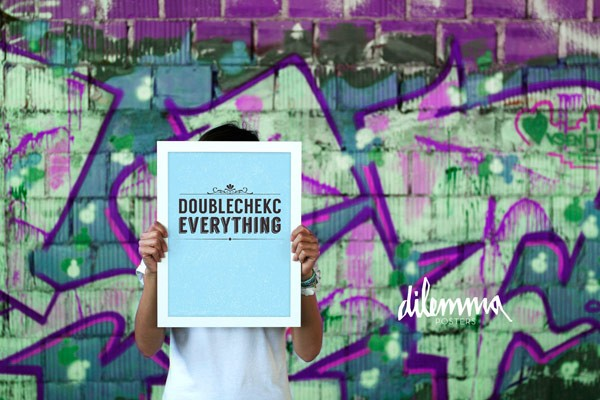 Doublecheck everything – typographic poster design.