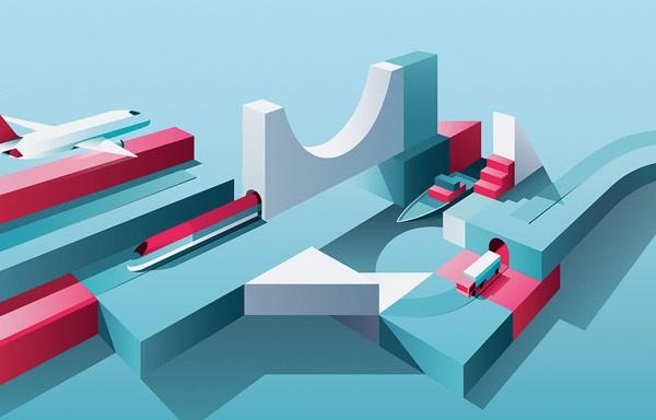 Graphic artwork for Berenberg.