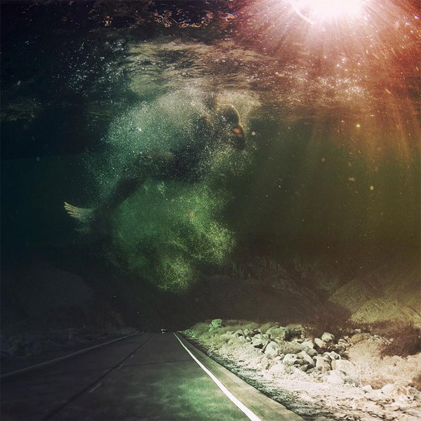 I'm drowning in my own mind – surreal photo artwork.
