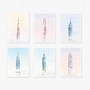 World's Highest Skyscrapers - Poster Series