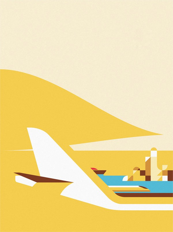 Monocle illustration created by Ray Oranges, a Florence, Italy based illustrator.