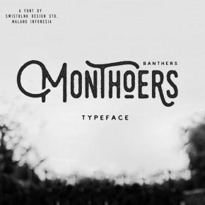 Monthoers Typeface by Swistblnk Design Studio