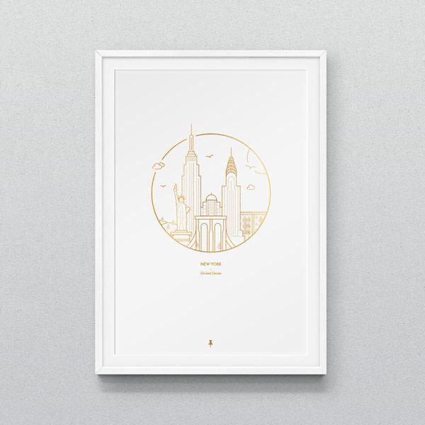New York City - minimalist poster design.