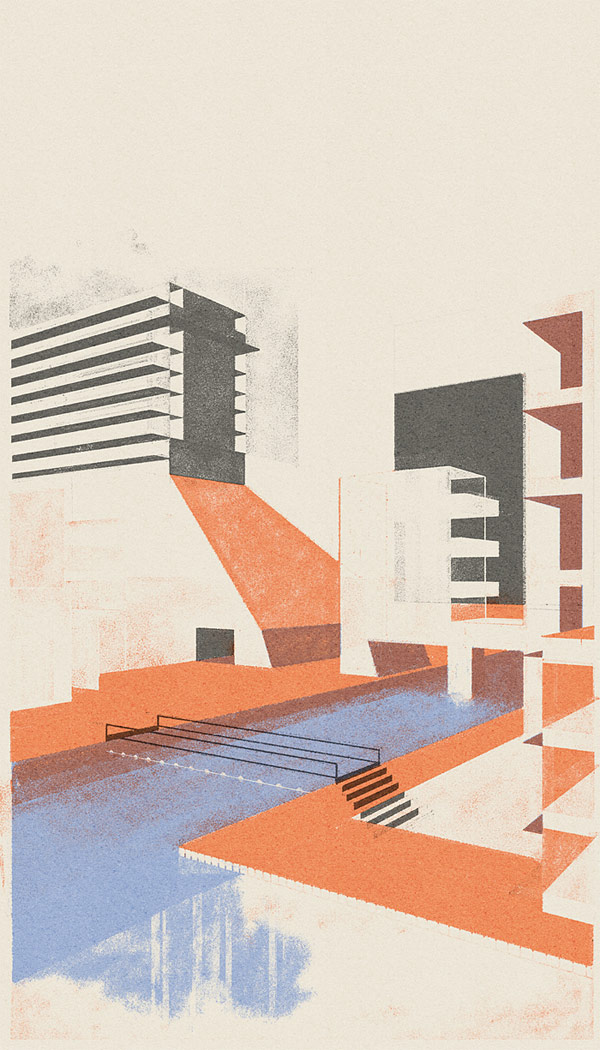 Picture Book Illustration Making An Architectural Model: Dutch Illustrator Leonie Bos