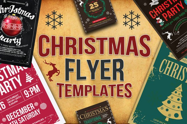 10 Christmas Flyers Bundle with CMYK color mode in 300 DPI.