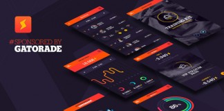 Mobile user interface and app design by BBDO Milan for Gatorade.