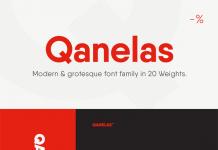 Qanelas is a modern sans serif typeface from Radomir Tinkov with a geometric look.