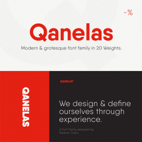 Qanelas – Modern Sans Serif Font Family