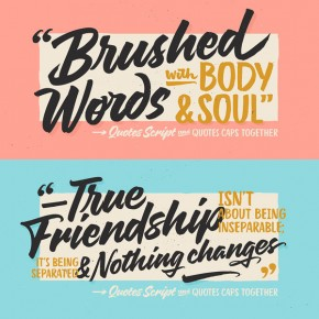 Quotes Fonts in Two Styles from Sudtipos