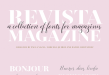 Revista, a fashion inspired font system for magazines and other typographic applications.