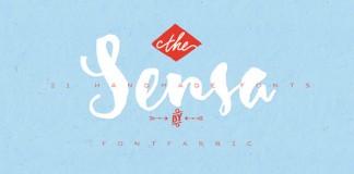 Sensa, a handmade font family consisting of 21 styles.