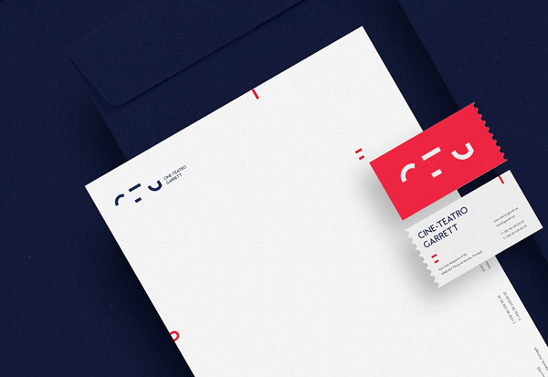 This stationery system was part of a corporate identity proposal developed by MAAN Design Studio for Cine-Teatro Garrett, one of the most historical theaters in Portugal.