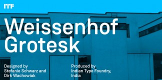 Weissenhof Grotesk, a constructed geometric sans serif from foundry Indian Type Foundry.