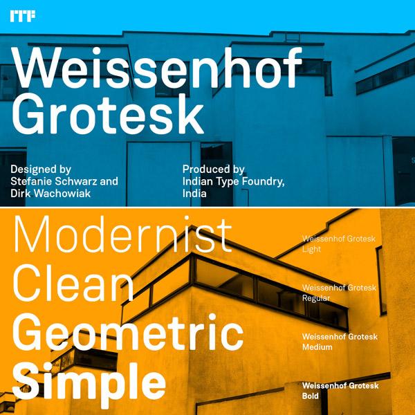 Weissenhof Grotesk Font Family