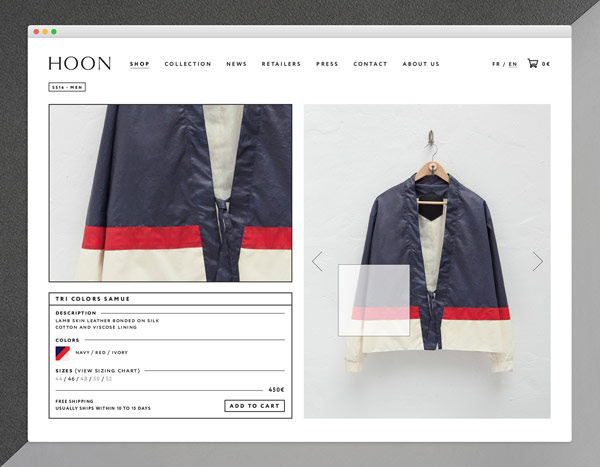 Example of a detail product page.