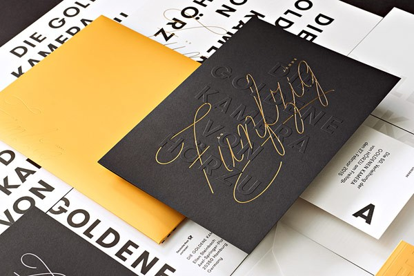 A collection of print design created by studio Paperlux for The Golden Camera 2015.