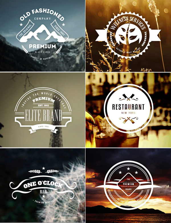 Create stylish badges that work great for a variety of applications and backgrounds.