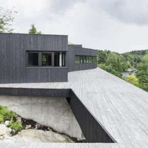 A Home in Quebec's Wooded Landscape by Alain Carle