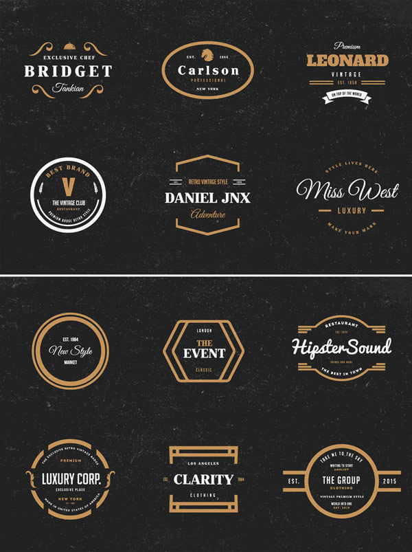 Diverse vintage inspired logos and badges as templates for your next design project.