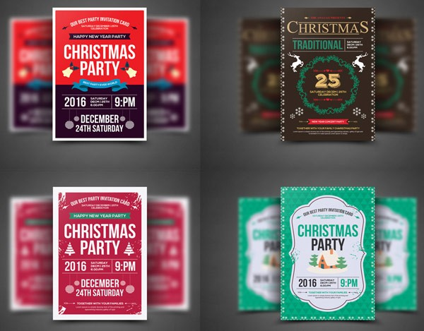 Lovely designed christmas flyer templates for your projects.