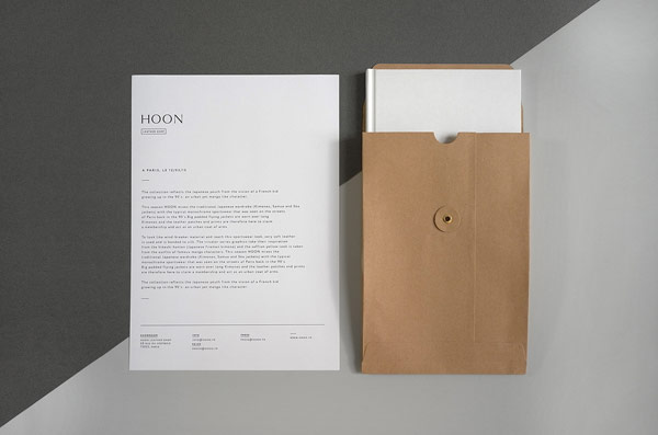 Stationery and envelope.