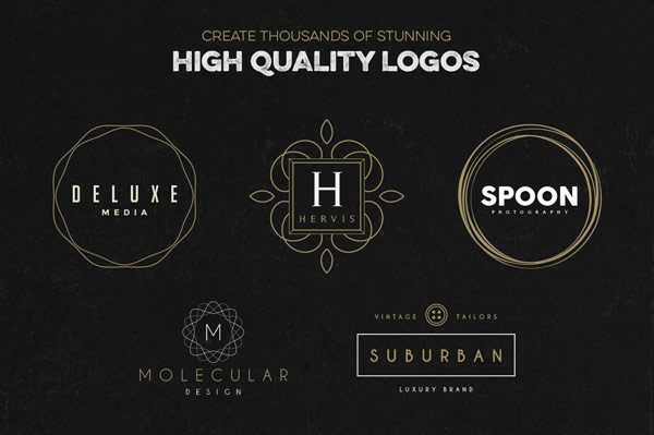With this template pack you can create thousands of amazing high quality logos.