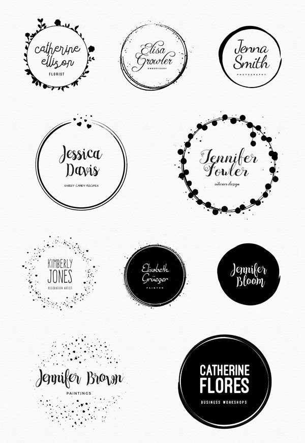 Feminine Logo Templates – Circle Edition