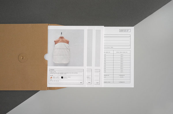 Some printed collateral with brand descriptions.