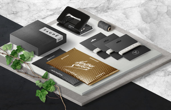 Well designed branding materials.