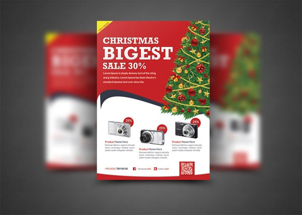 christmas flyer templates. Black Bedroom Furniture Sets. Home Design Ideas