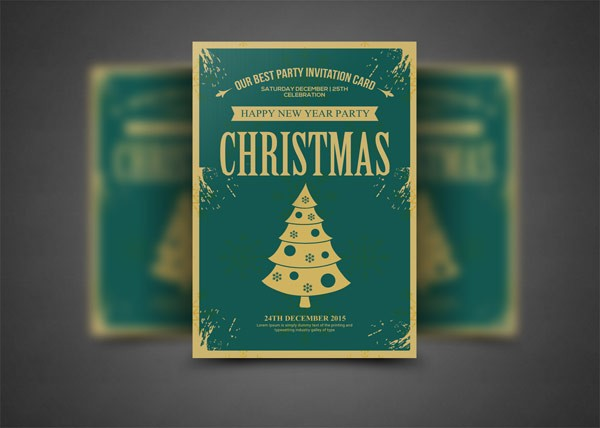 A mockup for christmas party invitations.
