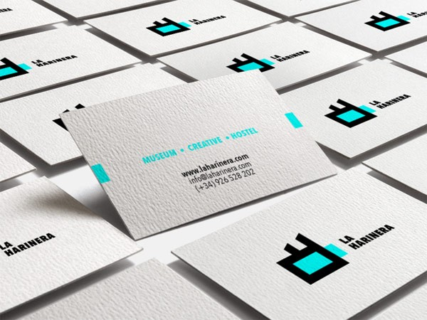 A range of business cards.