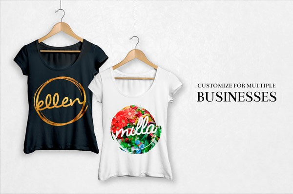 Create stylish logo prints for t-shirts and other cloths.