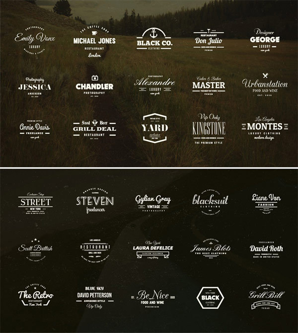 More stylish examples of the included logotypes.