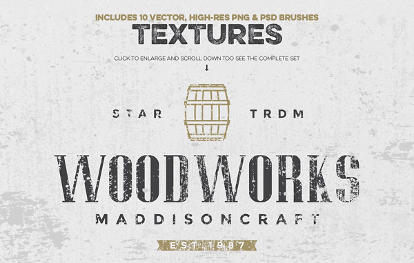 This kit also includes 10 high-res textures as PNG files and PSD brushes.