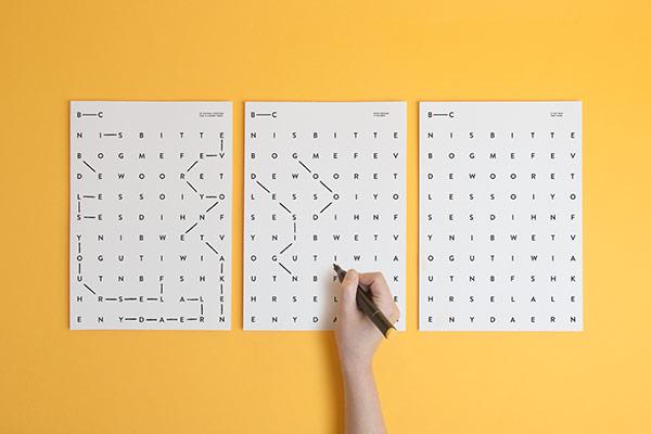 Typographic print design by Polish studio Noeeko.