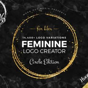 Feminine Logo Templates – Circle Edition