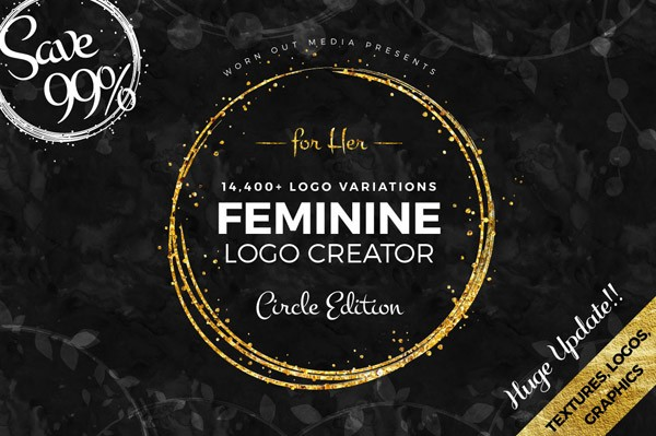 Feminine Logo Creator – The circle edition from Worn Out Media Co.